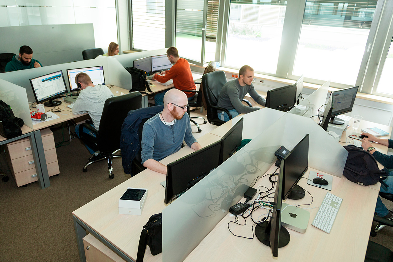 software company office. Our Employees Meet In The Company Friendly Atmosphere And Extended Infrastructure Which Are Essential For Productive Software Office M